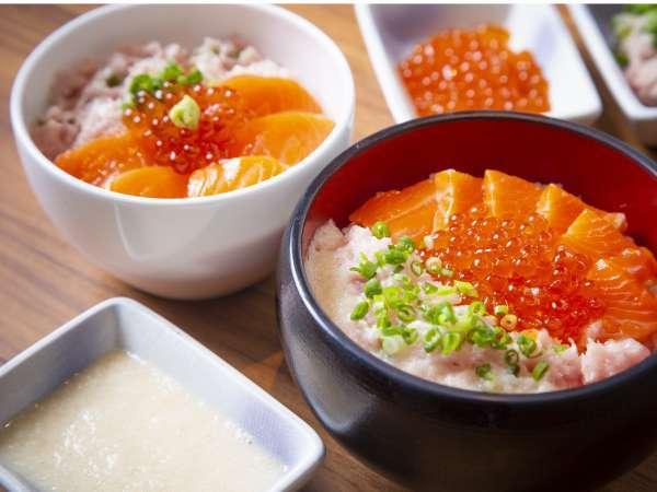 【朝食ビュッフェ】大人気!よくばり丼