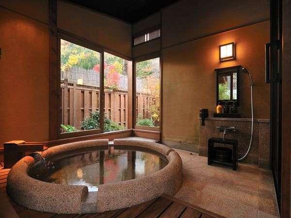 【スタンダードご宿泊プラン】半露天風呂付離れ客室で旬の懐石料理を堪能!お部屋食でのんびり♪