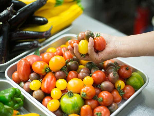 *採れたてオーガニック野菜と新鮮な地元食材をフランス料理にアレンジします