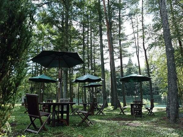 【フォレストガーデン】自然に囲まれながらお食事をお楽しみください※イメージ