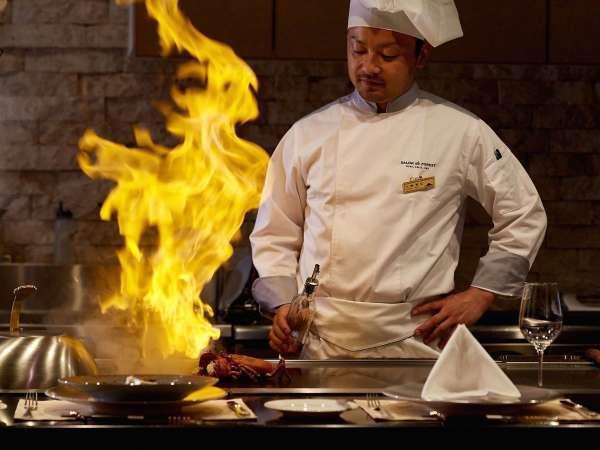 【夕食】鉄板焼きディナー/ライブ感溢れるシェフの手さばきをお愉しみください※イメージ 3