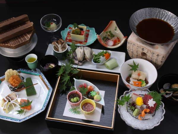 【スタンダード和食プラン】宮島観光にピッタリ♪旬の和食会席と厳島を望む絶景の温泉を満喫!