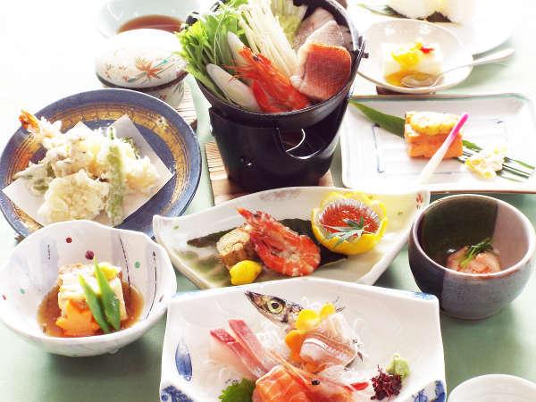 <スタンダードプラン>眺望自慢!温泉と日本海の幸を楽しむ◆1泊2食付