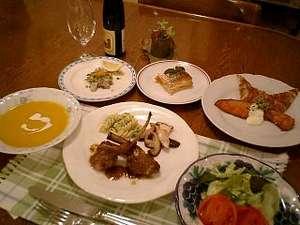 夕食は洋食フルコース