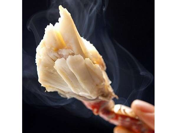 竹崎蟹の身アップ。このホクホクしていて甘~い美味しさを是非楽しんで下さい