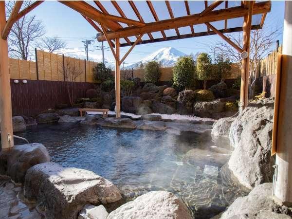 露天風呂からの富士山