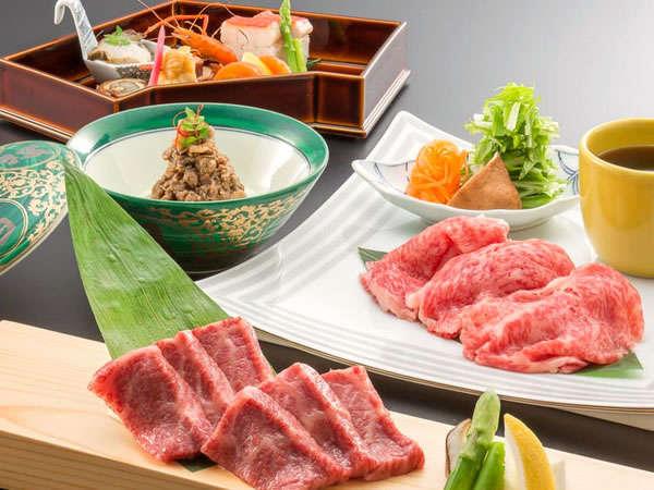 【認証近江牛会席】三大和牛の一つ認証近江牛の旨みを「ステーキ」や「しゃぶしゃぶ」で堪能!