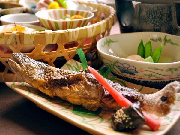 【夕食一例】岩魚塩焼き