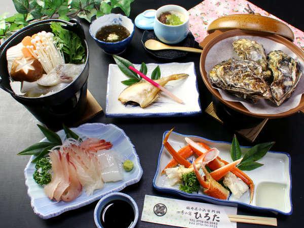 新鮮な魚介とその土地ならではの食材をお楽しみください♪♪(一例)
