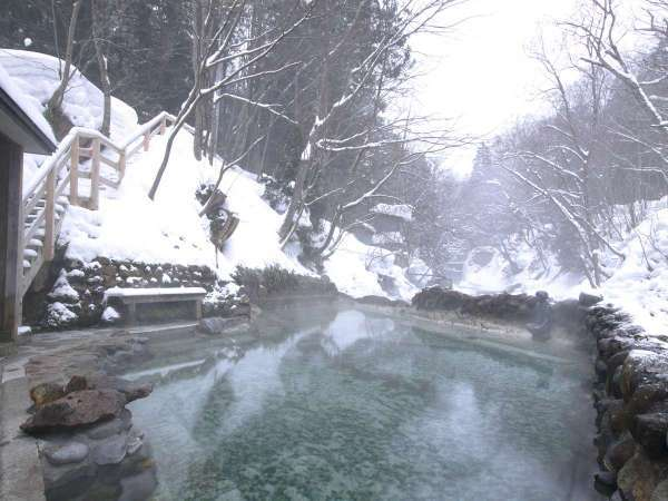 薬研温泉露天風呂 かっぱの湯(写真供:青森県観光情報サイト)