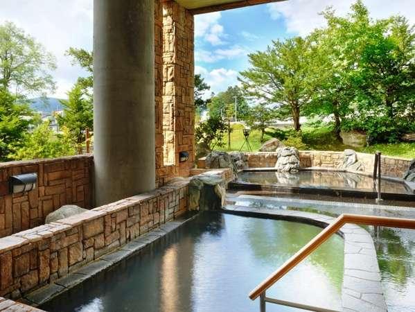 温根湯の自然を眺めながら入る露天風呂は格別