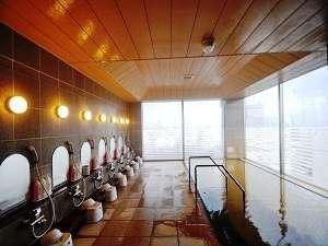 天然温泉大浴場は、最上階に位置しています。