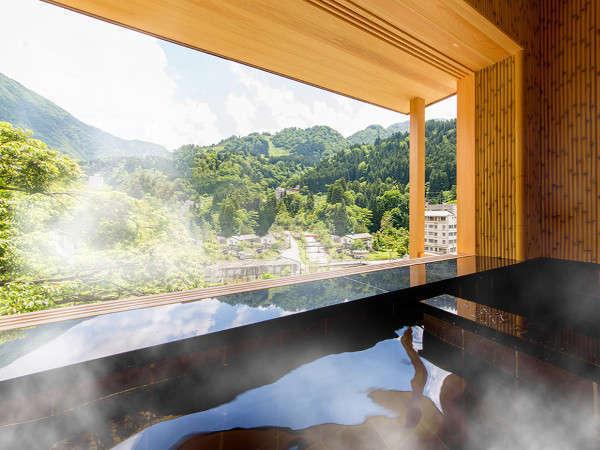 【桜の間】24時間かけ流し温泉露天風呂付客室