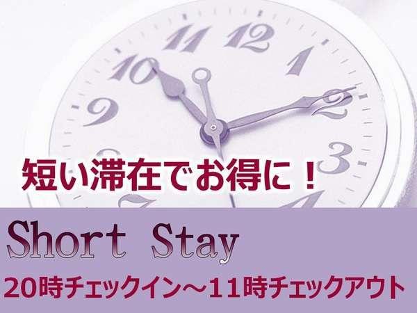 【最安】1泊限定!20時−11時ショートステイ 短い滞在でお得に!(朝食付)