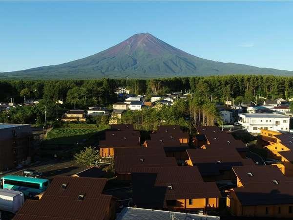 富士山リゾートログハウスふようの宿(空撮)