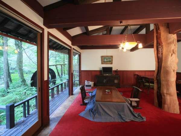 離れ客室 天領 飛騨の伝統工芸「春慶塗」を施した室内 写真提供:じゃらんnet