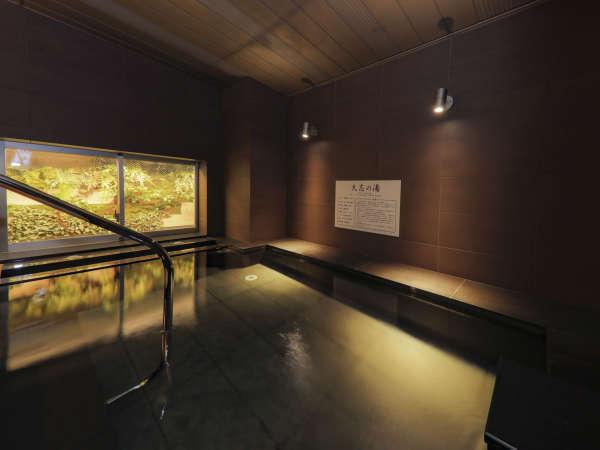 当館の天然温泉は、地元で有名な不動温泉♪地下500mから湧き出るph8.2の美肌湯です♪