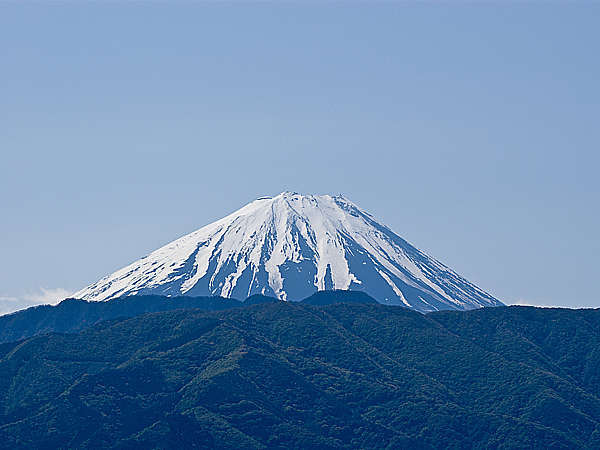 屋上からの富士山