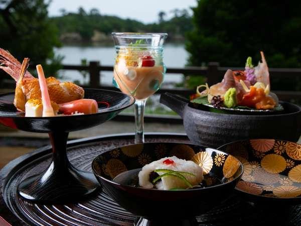 松島の旬と彩りを感じて頂ける一品一品丁寧な前菜は季節ごとにお楽しみ頂いております。