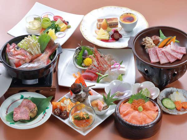 【9〜12月】≪厳選メニュー和食≫お肉からお魚まで贅沢食材勢ぞろい!豪華厳選プラン