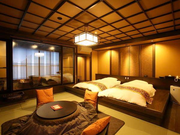 弐の棟・源泉かけ流し展望露天風呂付和室モダンルーム47平米