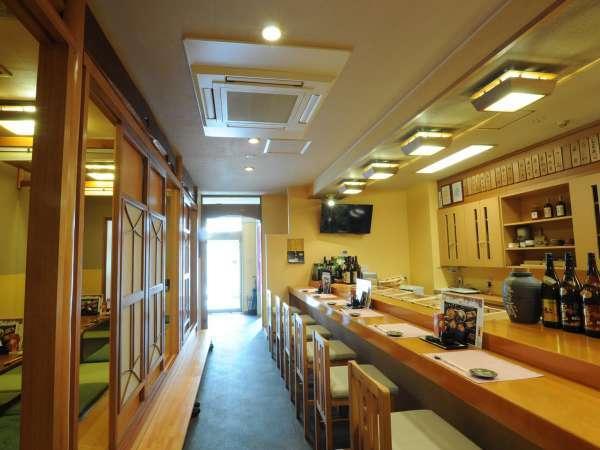 ◆隣接の寿司処【二海庵】。落ち着いた雰囲気の店内で食事をお楽しみください。