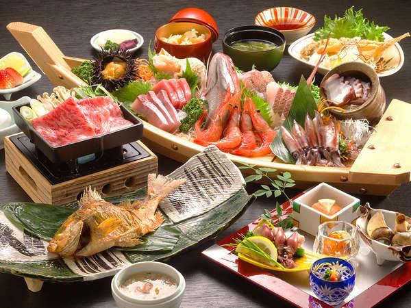まさに生簀から揚げるように、獲れたばかりの魚介を味わえるのが氷見の贅沢♪ボリュームも満点