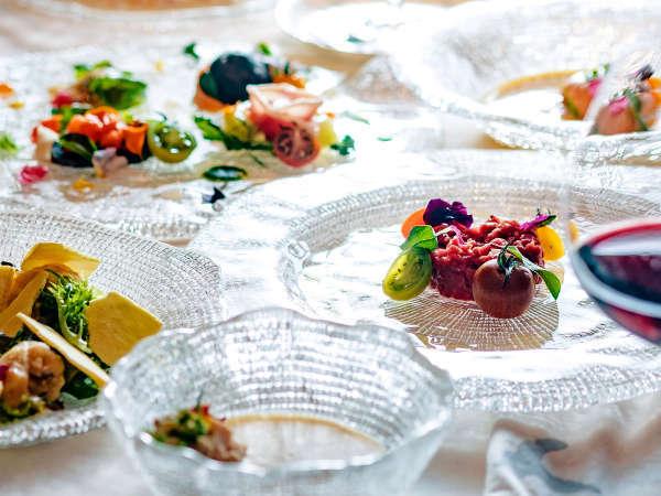 【夕食一例】グランデフルコース夏メニュー一例