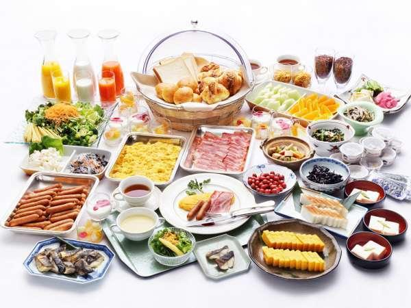 和洋30種類以上の朝食バイキング