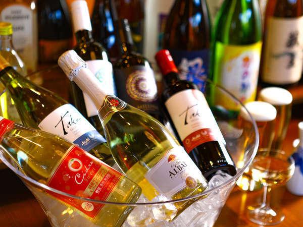 夕食時アルコール20種類飲み放題(無料サービス)