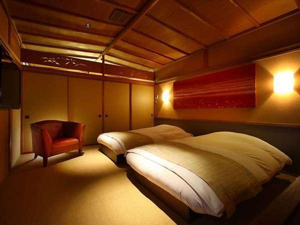 【甲斐駒(かいこま)】本館露天風呂付客室/寝室