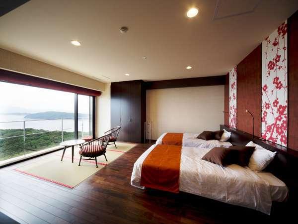 お部屋は全室オーシャンビュー。海を眺めながらのんびりお過ごしいただけます。