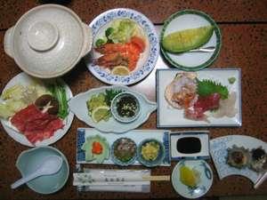 夕食一例(冬~春)宿泊代金で品数も変ります。
