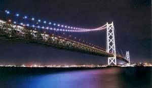 明石といえば・・・ライトアップがロマンチックな「明石海峡大橋」はオススメ!