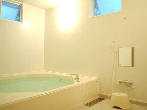 大人4~5名でもくつろげる、驚きの広さの浴槽で大の字での貸切入浴を