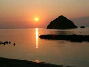 最高に美しい我が世久見の夕日