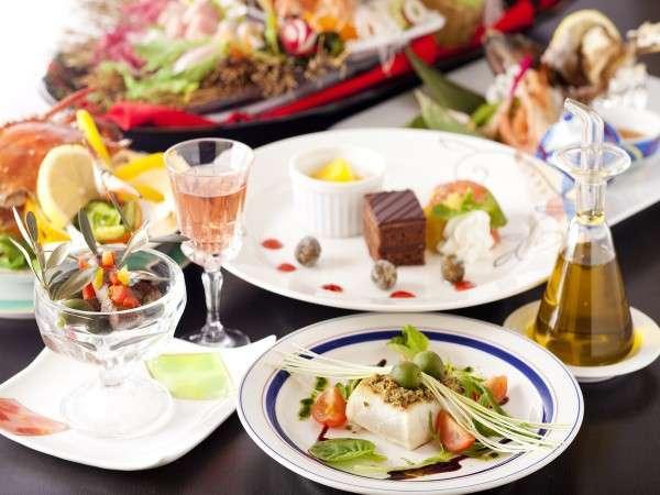 小豆島特産のオリーブを盛り込んだ、独創性あふれる和洋折衷会席(イメージ)
