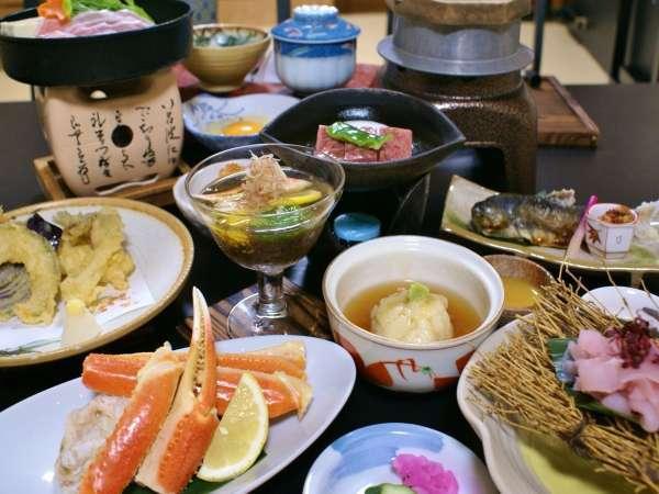 【仙台牛の陶板焼き×ズワイガニ】贅沢ご当地グルメを満喫!<2食付>
