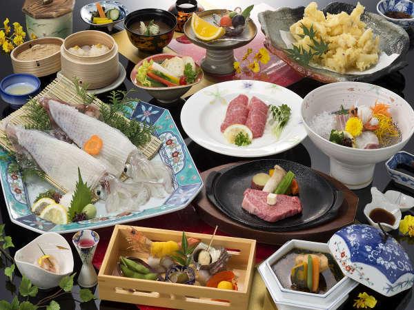 佐賀牛ステーキと活きイカの饗宴(味覚三昧)