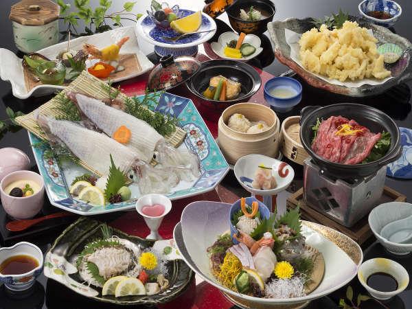 活きイカ・魚介類を堪能(潮騒)