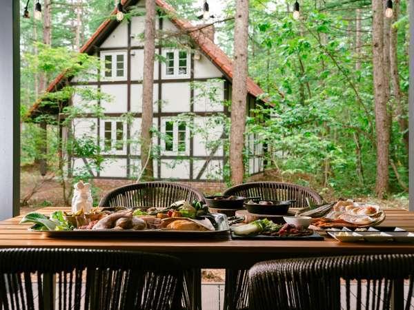 *【お食事】BBQ-極みコース-/屋外テラスで召し上がれ(一例)