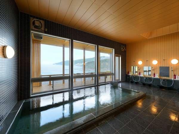 三陸海岸を眺める 大浴場