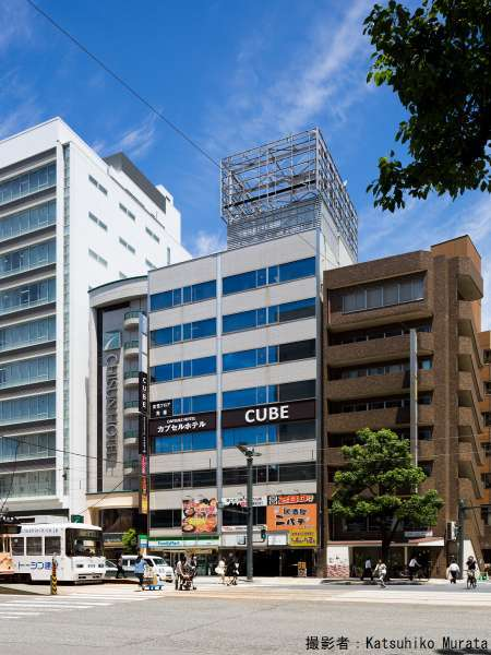 カプセルホテルCUBE広島の写真/広電【銀山町】電停目の前です