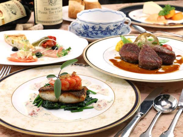 【夕食一例】美味しいワインと共に本格フレンチディナーをどうぞ!