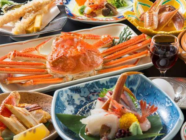 【蟹づくし】 かに料理5品付(料理写真はイメージ)お膳の上は「カニ」でいっぱい♪