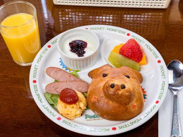 お子様ランチの朝食