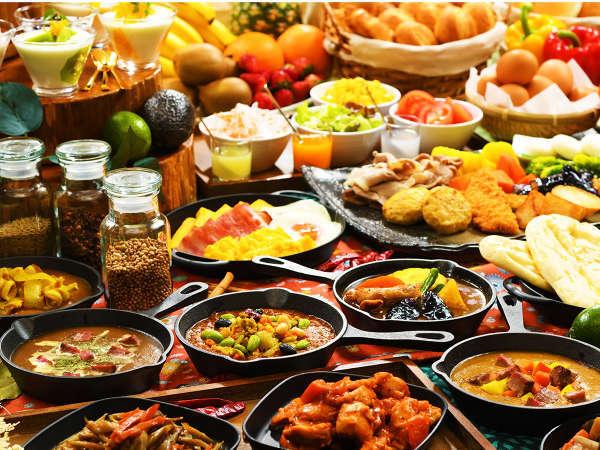 【朝食ビッフェ/料理イメージ】彩り豊かな県産食材を活かしたこだわりビッフェ♪岩手の朝を味わう♪