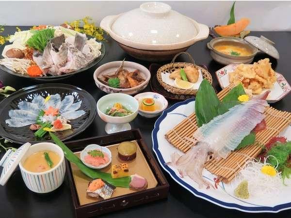 【高級魚!!天然あら(クエ)とイカ活き造りをご堪能】旬の味覚満喫プラン♪