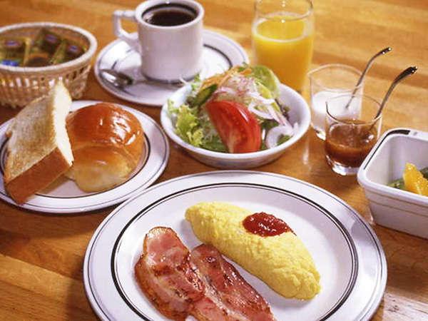 【朝食一例】洋食は付け合わせのメニューをお選びいただけます。