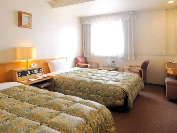 【ツインルーム】ゆったりお休みいただけるツインルームは帯広観光におすすめです。